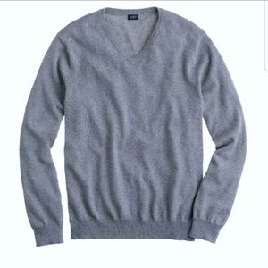 J. Crew   V- necks cotton and cashmere sweater